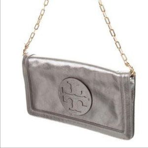 Tory Burch Reva Clutch Bag Silver/Gray